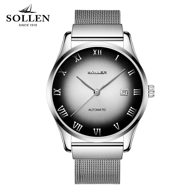 Relogio Masculino Men High Quality Automatic Mechanical Watches Man Top Luxury Brand Business Full Steel Calendar Watch Montres new business watches men top quality automatic men watch factory shop free shipping wrg8053m4t2