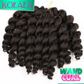 "6"" Dark Brown Jumpy Wand Curly Twist African Collection Jamaican Bounce Braiding Hair crochet curly Extension for Black Friday"