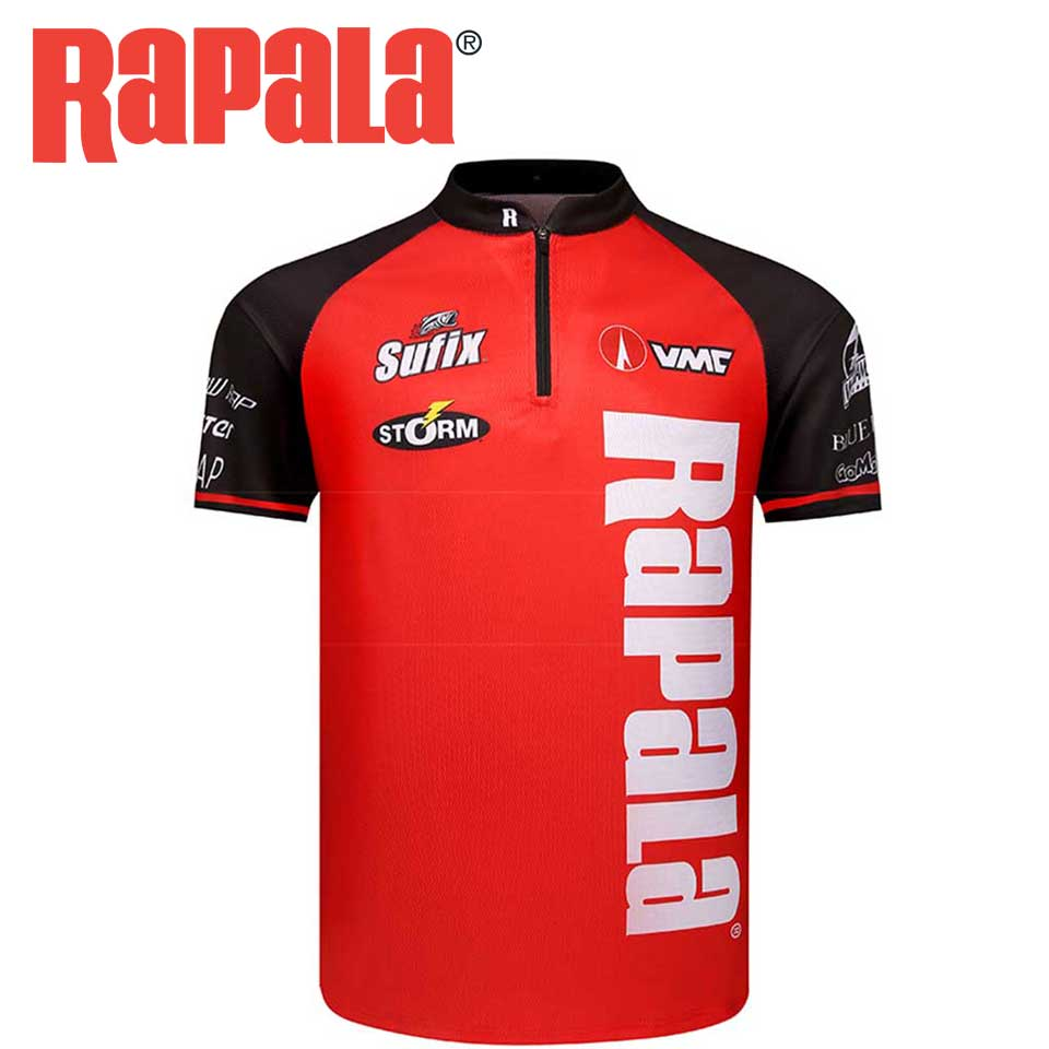 Original RAPALA Clothes Summer Fishing T Shirt Short Sleeve Quick-Drying Breathable Anti-UV Fishing Shirt