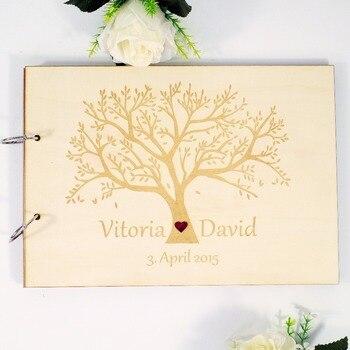 21863ad167ca Libro de invitados de boda de madera rústico personalizado grabado Árbol de Vida  madera visitas único álbum de boda