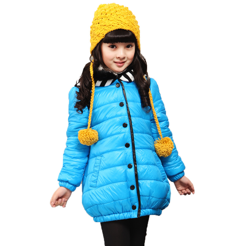 Winter 2017 High Quality Brand Girls Jacket Cotton-Padded Fur Hooded Children Winter Outwear Girls Winter Coat  Jacket For 5-10Y