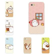 molang kawaii wallpapers soft silicone tpu transparent hot selling for xiaomi redmi note 2 3 3s