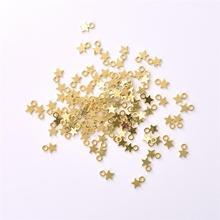 100Pcs Gold Silver Color Stars Pendant DIY Jewelry Accessories