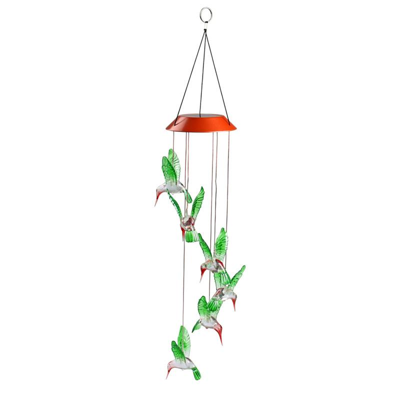 LED Color Changing Solar Light Wind Chime Multi color