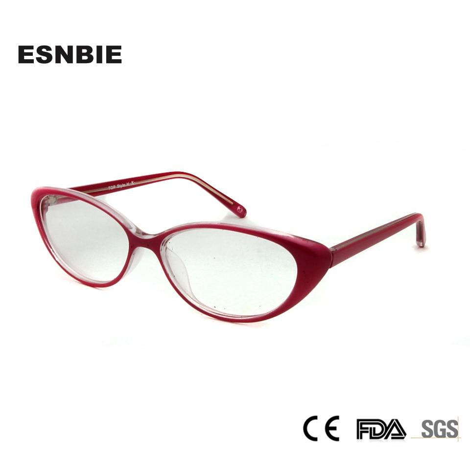 ESNBIE Brillen Frauen Miopia Damen Sexy Katzenauge Glasrahmen Rosa ...