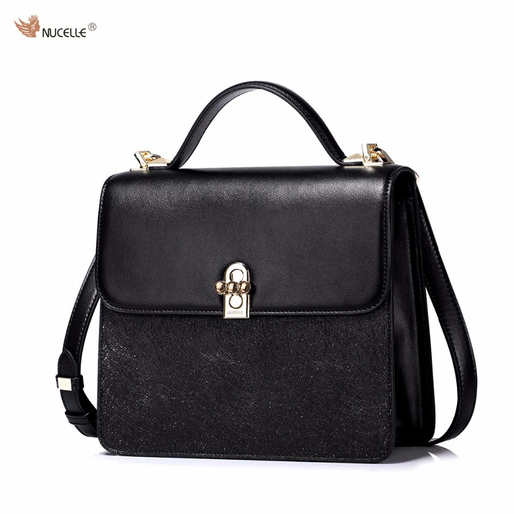 ФОТО New NUCELLE Brand Design Fashion Rhinestones Lock PU Leather Women Lady Handbag Shoulder Crossbody Square Bags