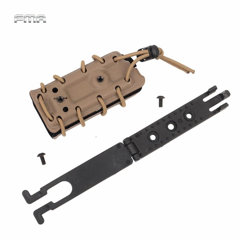 FMA Molle Magazine Pouch Carrier Singolo 9mm. 45 caliber Pistol Pouch Holster con Floccatura interna di Protezione