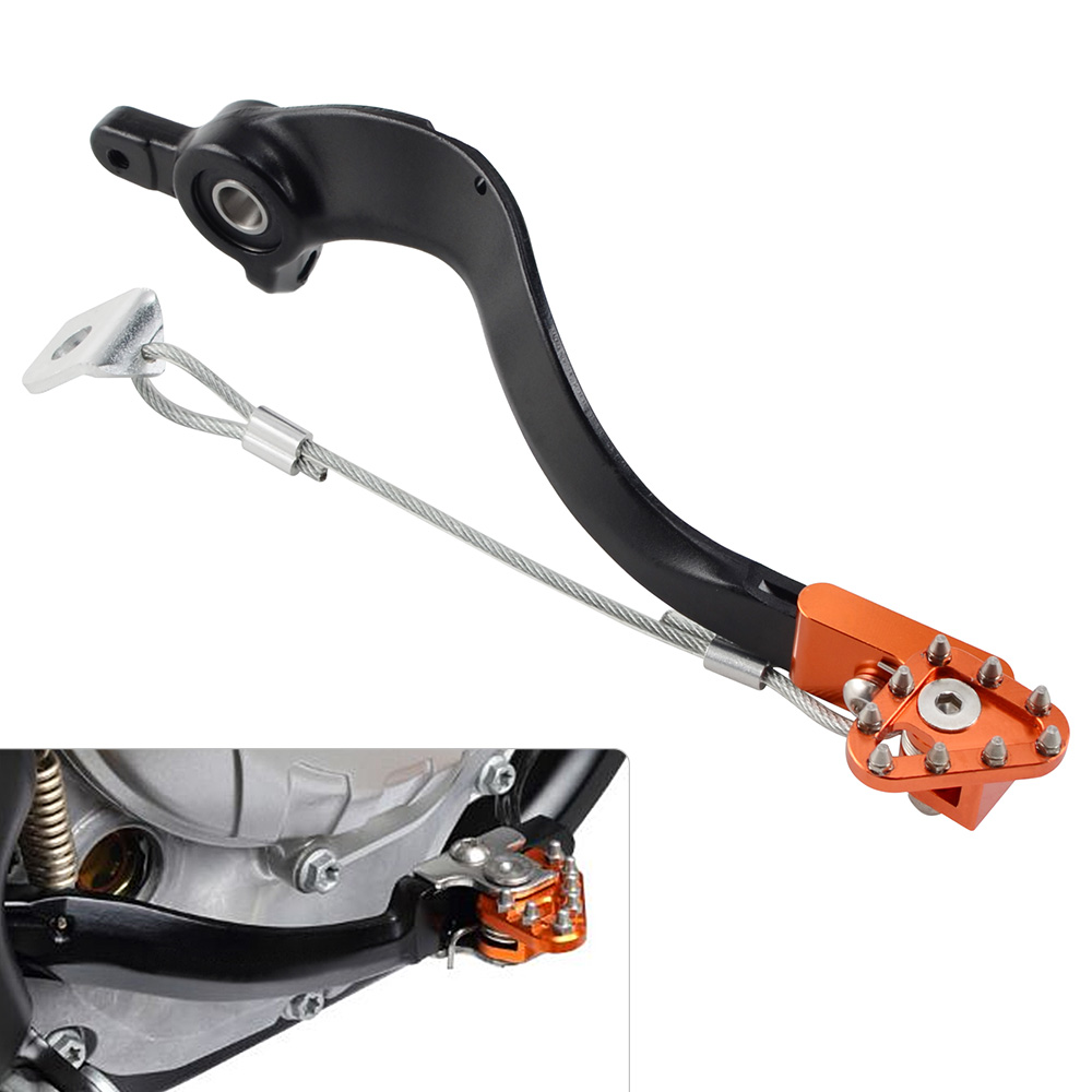 Rear Brake Pedal Arm Lever Brake Saver for ktm EXC SX XC XCW XCF SXF EXCF XCFW 125 150 200 250 300 350 450 500 2014 2015 2016 ## right left sides wp fork leg shoe guard protector cover for ktm 125 200 250 300 350 400 450 500 exc sx sxf xc xcf excf excw xcfw