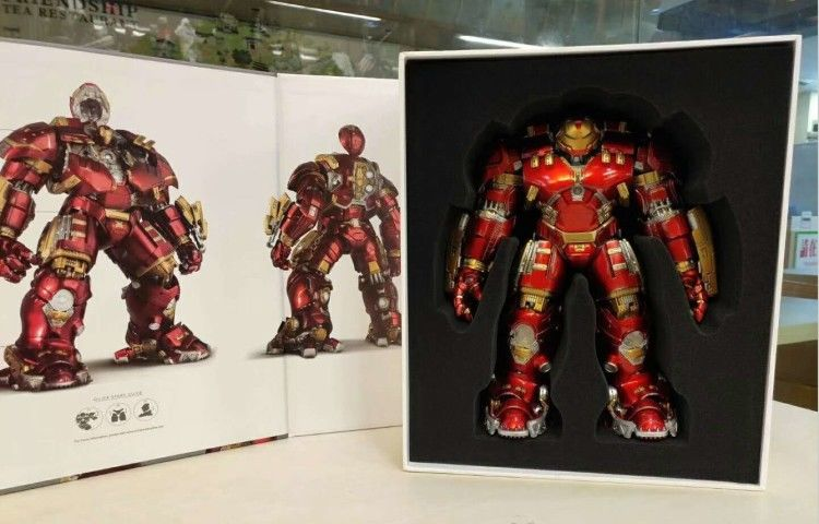 Comicave 1//12 Scale Iron Man MK33 Red Ver Action Figure Alloy Led Light Model
