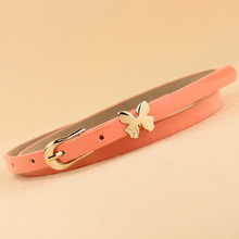 2013 all match neon color candy color butterfly thin belt decoration belt strap female mix colors