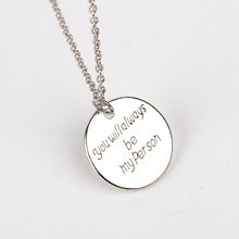 2016 saying Letter you will always be my person greys anatomy necklace best friends family friendship jewelry