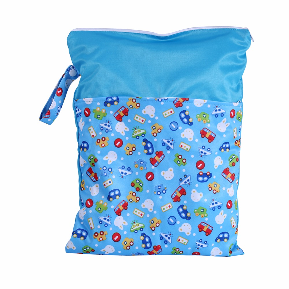 1Pcs Portable Washable Baby Nappy Wet Bags 2018 Reusable Sanitary Menstrual Pads Cloth Diaper Waterproof Diapers Bags Nappy Bags