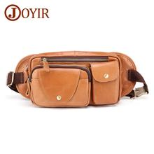 JOYIR New Design Men's Chest Bag Genuine Leather Men Waist Pack Casual Fashion Male Shoulder Messenger Bag Fashion Chest Bag new genuine leather waist belt bag men leather shoulder men chest bags fashion travel crossbodys bag man messenger bag male flap