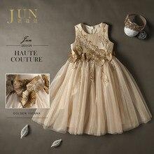 2017 Brand Girls Dresses Wedding Dress Custom Size Dress Handmade Irregular Princess Costume Luxury Evening Pageant Dress A002