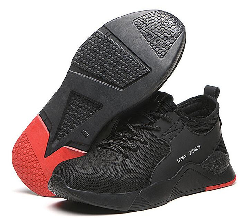 Рабочая обувь со стальным носком; легкая дышащая мужская защитная обувь; мужские кроссовки со светоотражающими вставками