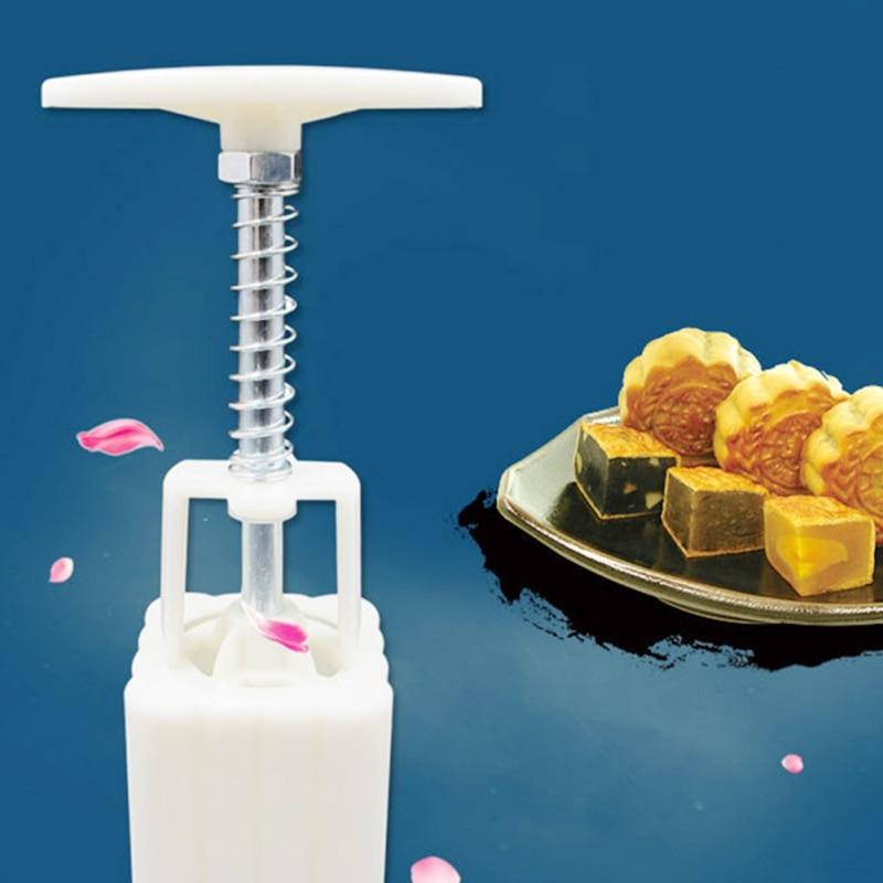 Бытовой кухонный инструмент для выпечки с 4 цветами по 50 г, включая бочки, прессованная вручную квадратная форма для торта, практичная ручная работа
