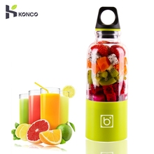 все цены на USB Portable Fruit Blender, 550ml Personal Vegetable Juicer Cup with 2600mAh Rechargeable Battery, Electric Mixer Machine онлайн