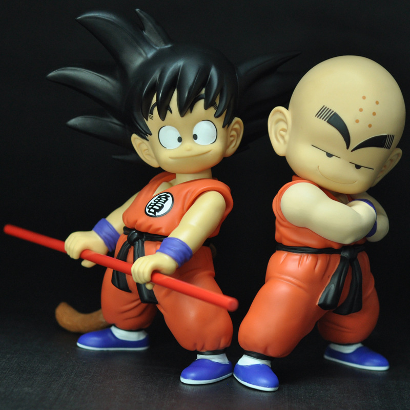 1pc 21CM Dragon Ball New Toys Son Goku Kuririn Action Figure Model Toys Anime Kids PVC Toys Good Birthday Gift for Children anime dragon ball super saiyan 3 son gokou pvc action figure collectible model toy 18cm kt2841
