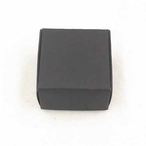 50 шт 4*4*2,5 см самолет коричневый подарочная упаковка крафт-бумага упаковочная коробка ручной работы Любовь Свадьба \ ремесла \ торт \ мыло ручной работы \ коробки для конфет - Цвет: Черный