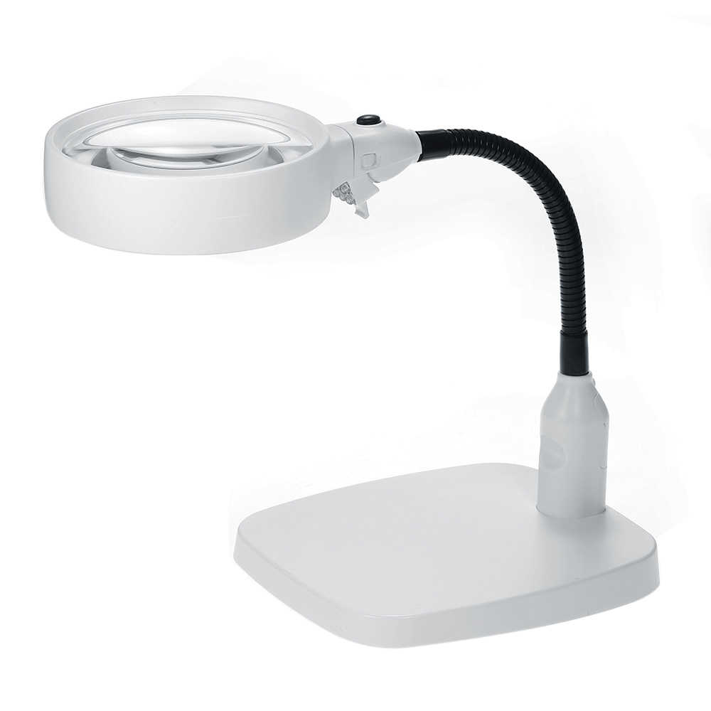 lámpara 2 LED 1 8X120mm escritorio lupa 138mm en escritorio LUqGSzVMp