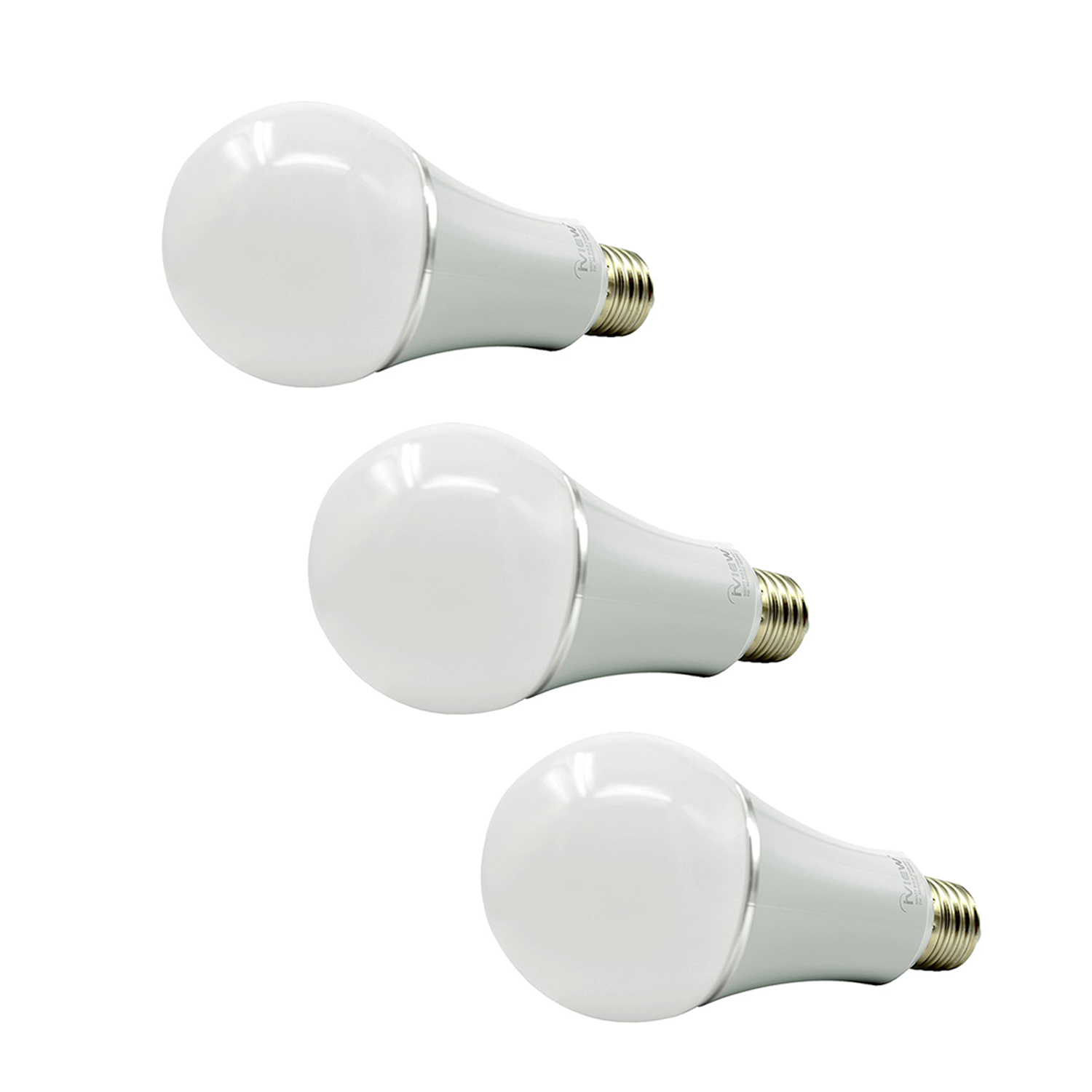 3pcs white ABS ISB600 Smart WiFi LED Bulb Multi Color Dimmable Free APP Remote Control 7w