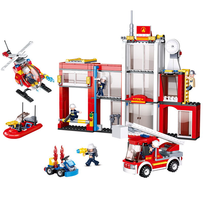 612pcs Children s building blocks toy Compatible city General fire department DIY figures Bricks birthday gifts