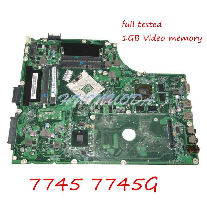 NOKOTION MBPUM06001 MB.PUM06.001 For Acer aspire 7745 7745G Laptop Motherboard DA0ZYBMB8E0 HM55 DDR3 HD5850 1GB Video card