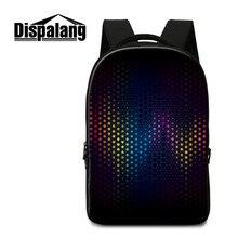 Dispalang большие красочные Ёмкость рюкзаки для женщин для мужчин школьные сумки для подростков Повседневная дорожные сумки ноутбук рюкзак Mochila