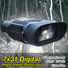 12 Languages 850NM 3W Infrared LED Picture Video Shooting 3 5 7X Digital Night Vision Binocular