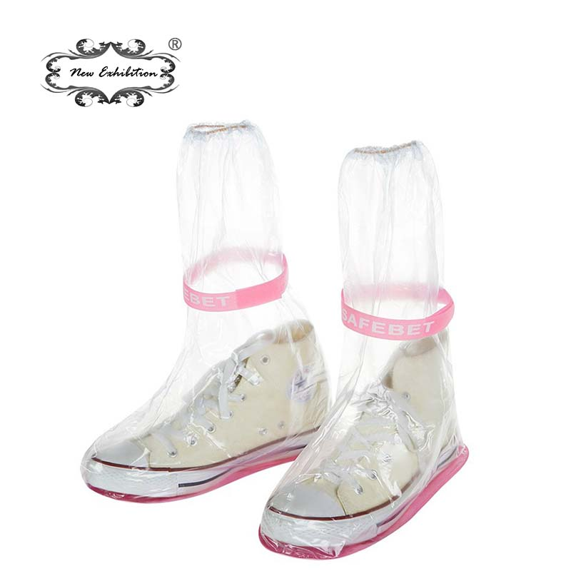 New exhibition Waterproof Shoes Covers thicken Slip-resistant Boots Cover Women/men/kids Rain Covers reusable Fishing Overshoes