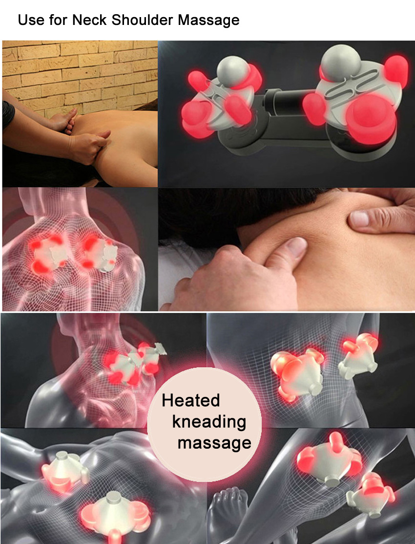 Amkee Electrical Body Kneading Massager U Shaped For Neck Back And Shoulder 8