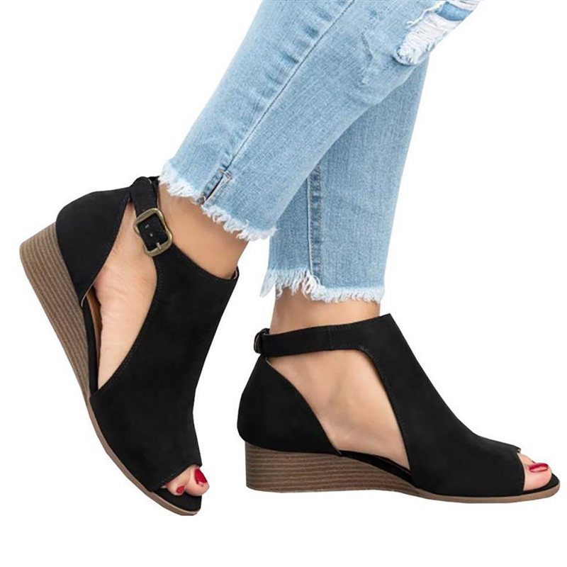Women Sandals 2018 New Wedges Shoes For Women Summer Sandals Casual 5cm Heels Sandals Shoes Female Wedge Sandalias Mujer