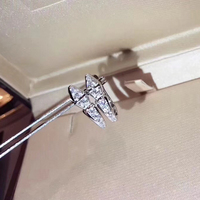 Hot Brand Pure 925 Sterling Silver Jewelry For Women Snake Earring Rose Gold Snake Stud Earrings