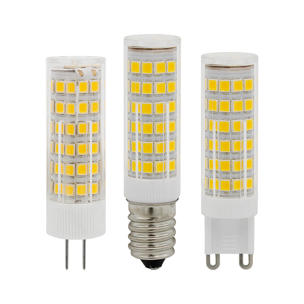 Mini E14 G4 G9 LED Bulb 220V 230 SMD 3W 5W 7W 51LEDs 75LEDs Corn Lamp LED Spotlight Replace 30w 40w Halogen Chandelier Light