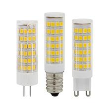 Mini E14 G4 G9 LED Bulb 220V 230 SMD 3W 5W 7W 51LEDs 75LEDs Corn Lamp LED Spotlight Replace 30w 40w Halogen Chandelier Light цена 2017