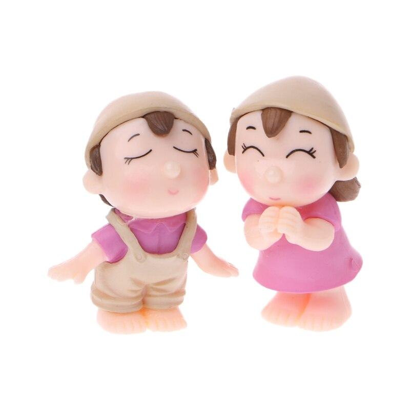 Gnome In Garden: Sweety Lovers Couple Figurines Miniatures Fairy Garden