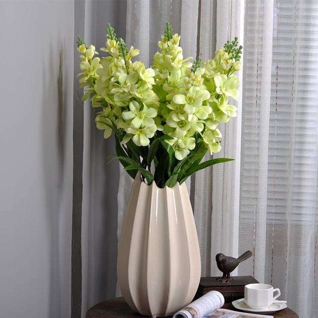 US $6 8 |Cordate telosma Silk flower butterfly orchid Indoor plants the  four seasons is easy indoor artificial plant for home deocration-in  Artificial
