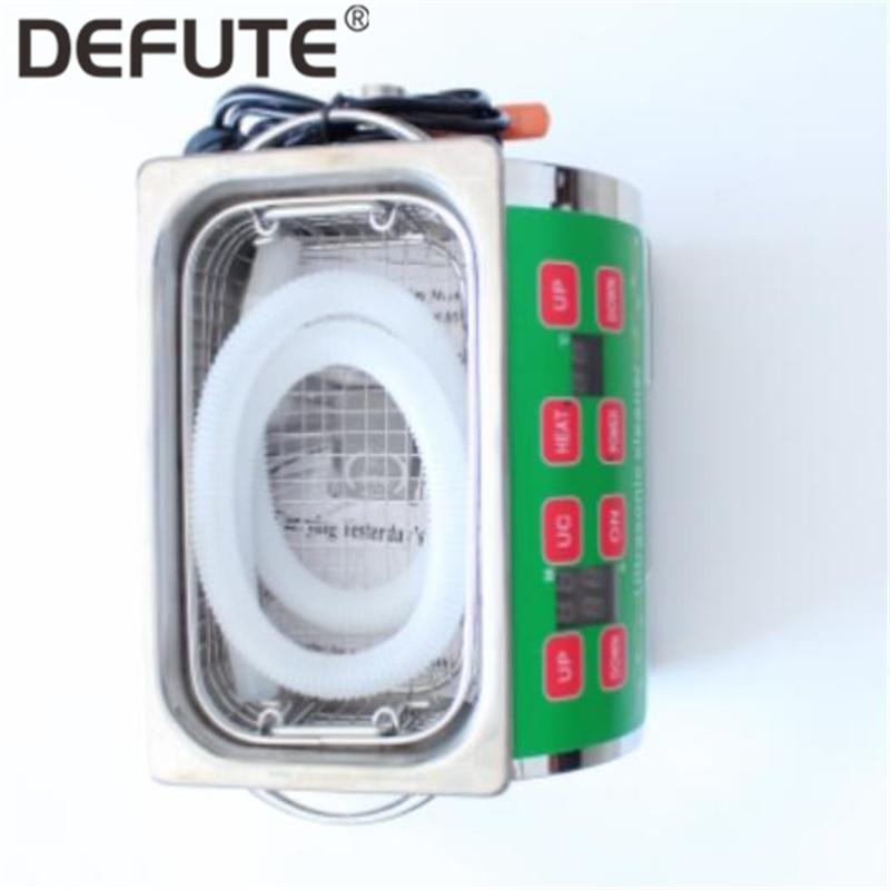 Machine de nettoyage ultrasonique en acier de réservoir d'injection d'injecteur de 100 W 3L pour le nettoyage de décapant de pièces de pompe d'injecteur