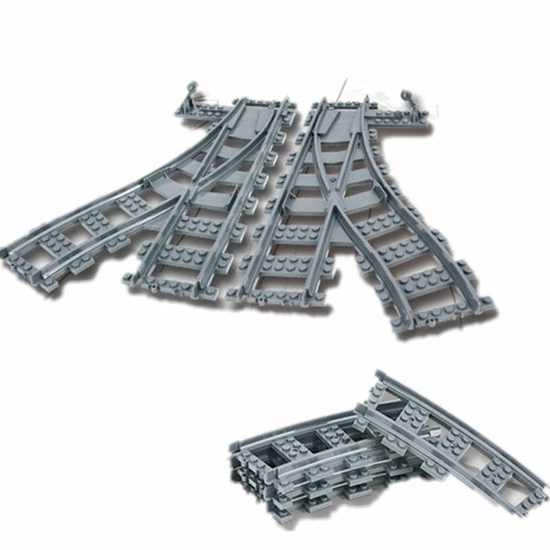 Le bloc de construction de Train de ville de voies ferrées incurvées et droites flexibles place des modèles de jouets d'enfants compatibles avec la volonté