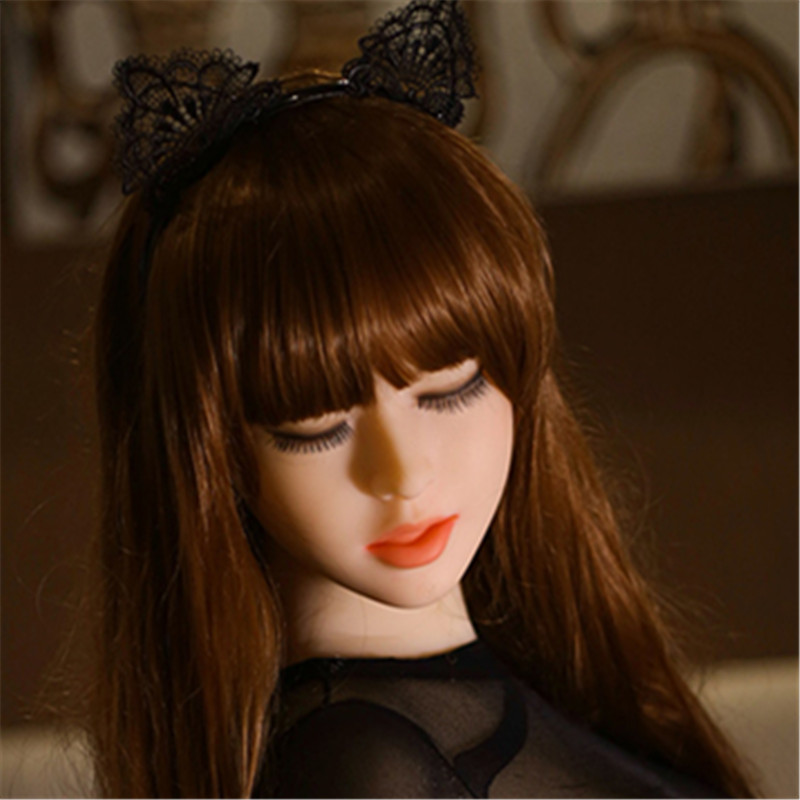 NEW 39# top quality sex doll head for silicone dolls with close eyes  sex toys for men