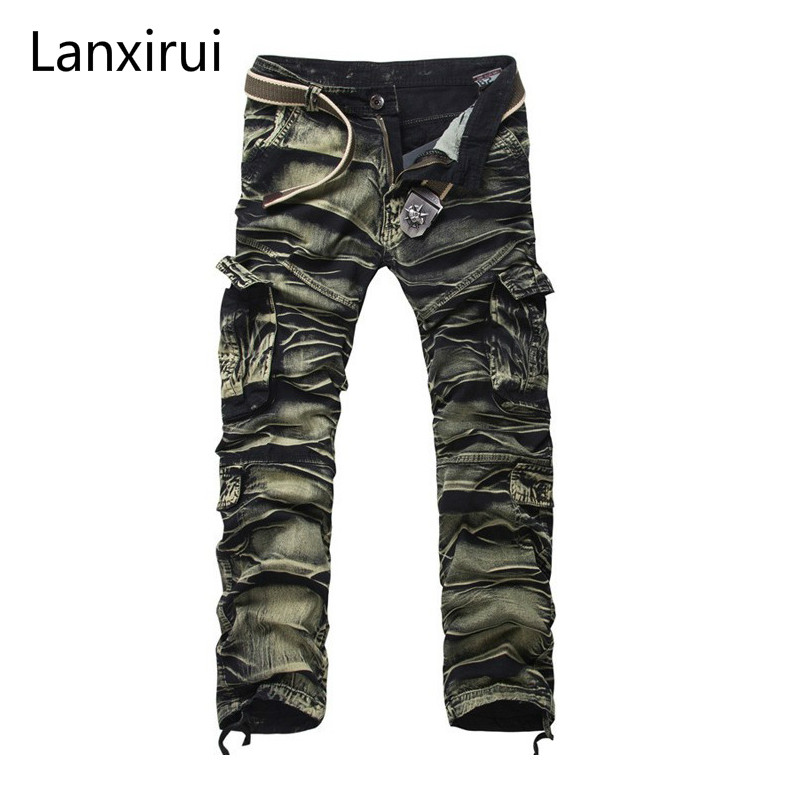 New Brand Joggers Pants Men  Men's Cargo Pants Military Style Fashion Hip Pop Trousers Male Sweatpants Pantalon Homme LP8