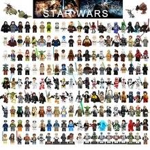 Одиночная Legoelys Звездные войны Строительный блок Хан Solo люк Дарт Вейдер йода Leia R2D2 игрушки Совместимые фигурки Starwars Legoelys