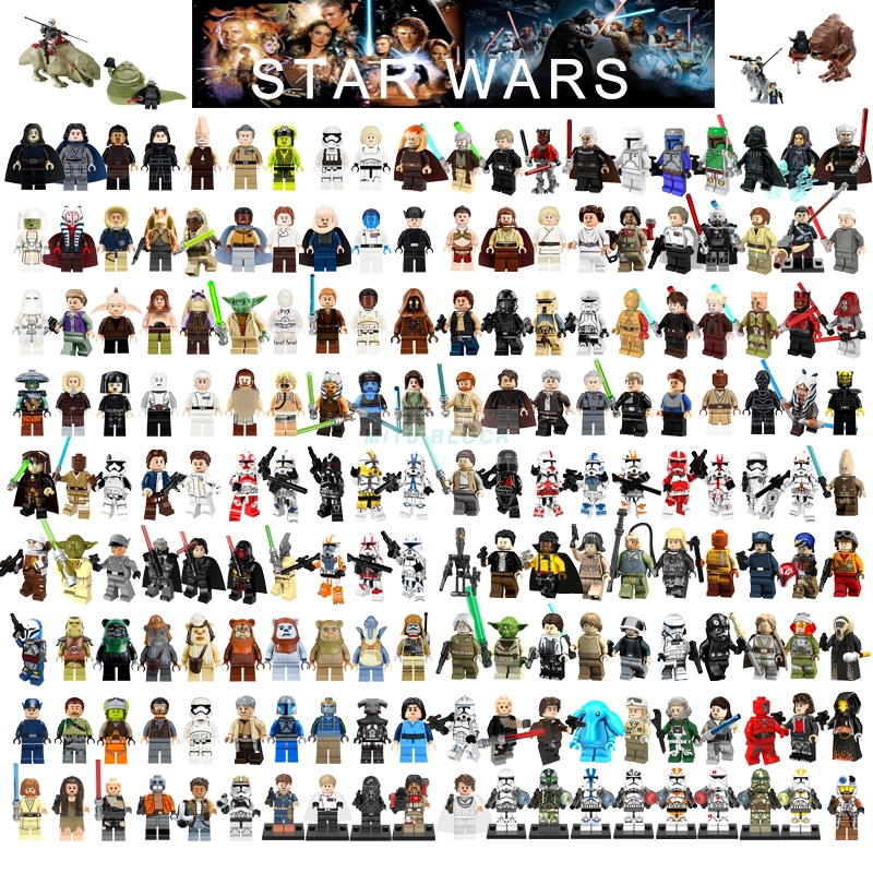 Single Sale Star Wars Building Block Han Solo Luke Darth Vader Yoda Leia R2D2 Toys Compatible Starwars Figures