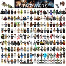 Single Sale Star Wars Blok Bangunan Han Solo Luke Darth Vader Yoda Cari R2D2 Mainan Kompatibel Legoelys Starwars Angka(China)