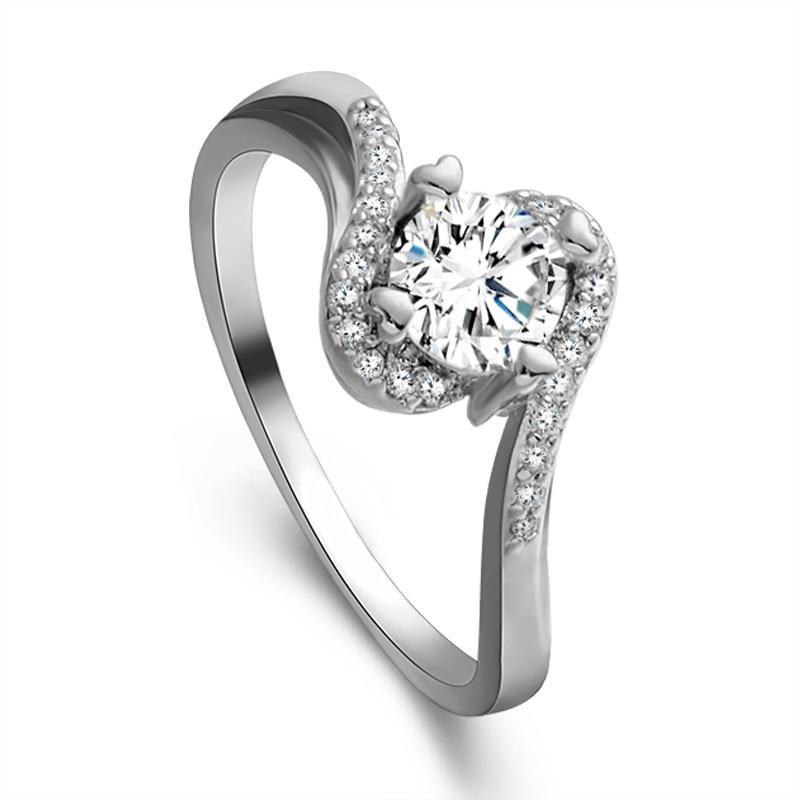 Simple Silver Wedding Rings For Women SHUANGR Fashion...