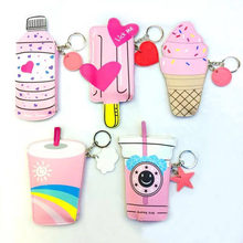 2017 New coin Purses Handbags Women Cute Ice Cream A Bottle Of A Leather Bag Kawaii Kids Wallet A Small Bag For The Keys 2018 new and creative messenger bag with the shape of ice cream cute chain bag designed for lovely girls