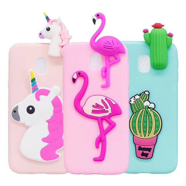 the latest 8be0f 4e14d US $3.07 18% OFF|Cute Case For Samsung J3 J5 J7 Pro 2017 3D Unicorn  Flamingo Soft Silicon Phone Bag Cover For Samsung J330 J530 J730 J7Pro  J5Pro-in ...