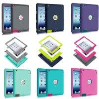 יוקרה Heavy Duty סיליקון Tablet Case כיסוי עבור אפל iPad 2 IPAD 3 IPAD 4 מקרי מגן עמיד הלם A1395 A1396 A1430 A1403