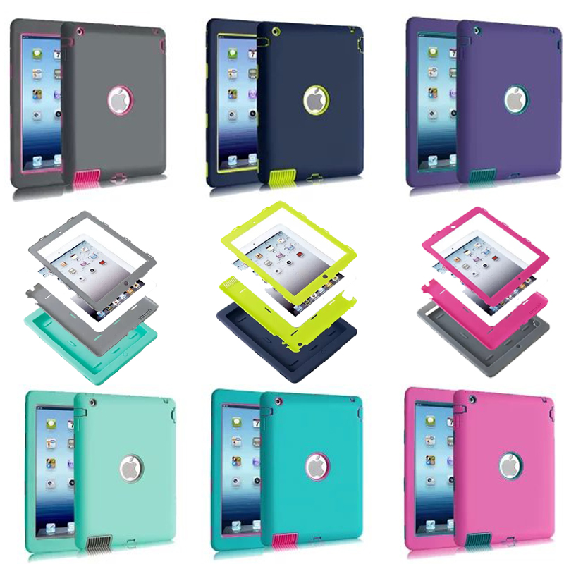 Luxury Heavy Duty Silicone Tablet Case Cover For Apple iPad 2 IPAD 3 IPAD 4 Shockproof Protective Cases A1430 A1403 A1395 A1396 case for ipad pro 12 9 case tablet cover shockproof heavy duty protect skin rubber hybrid cover for ipad pro 12 9 durable 2 in 1