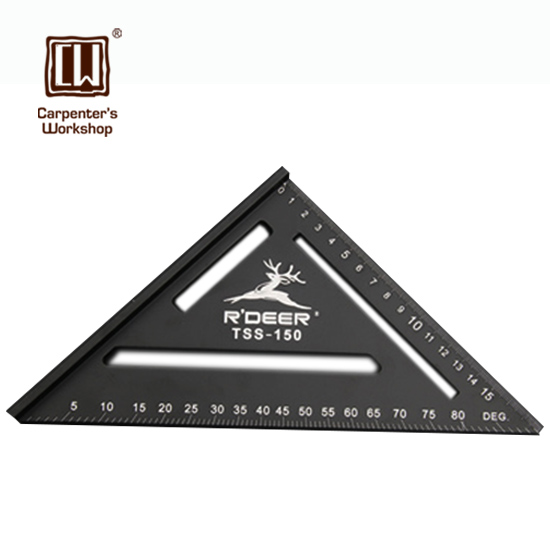 Aluminum Alloy Triangular Woodworking 45 Degree Ruler For Carpentry Woodworkers